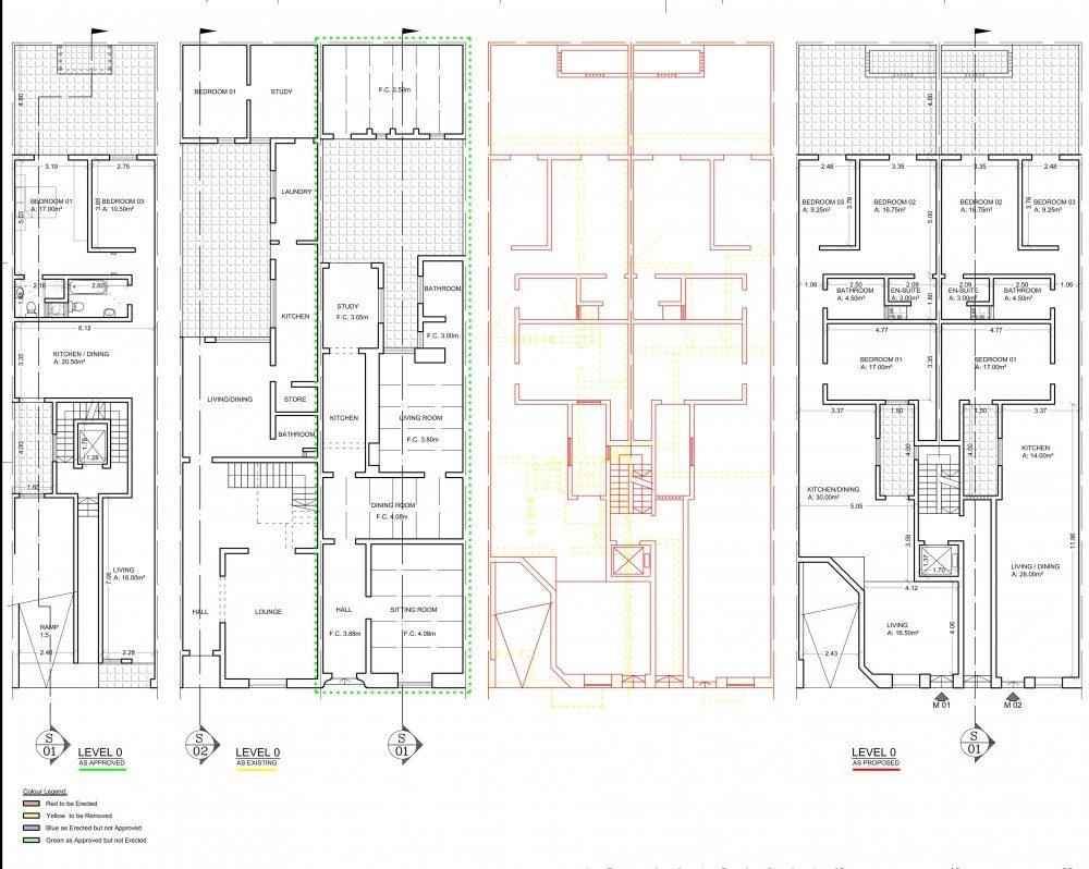 North Point Court St.Paul's Bay Floor Plan Level 0-1