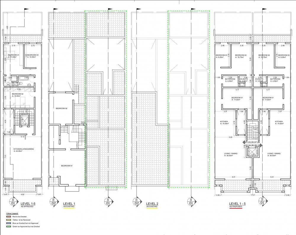 North Point Court St.Paul's Bay Floor Plan Level 1, 2, 3, 4 & 5-1