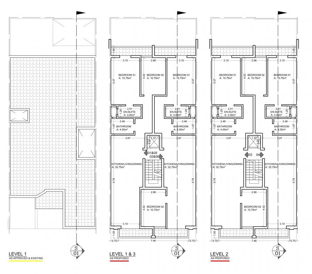Rosmarin Court Iklin Floor Plan Level 1, 2 & 3