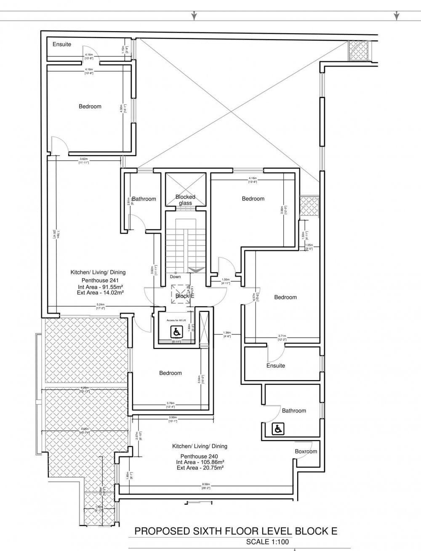 Sixth Floor Block E-1