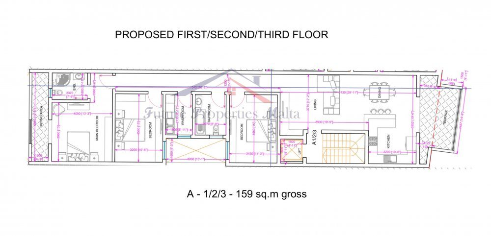 Block A - Typical Apartment 1,2,3