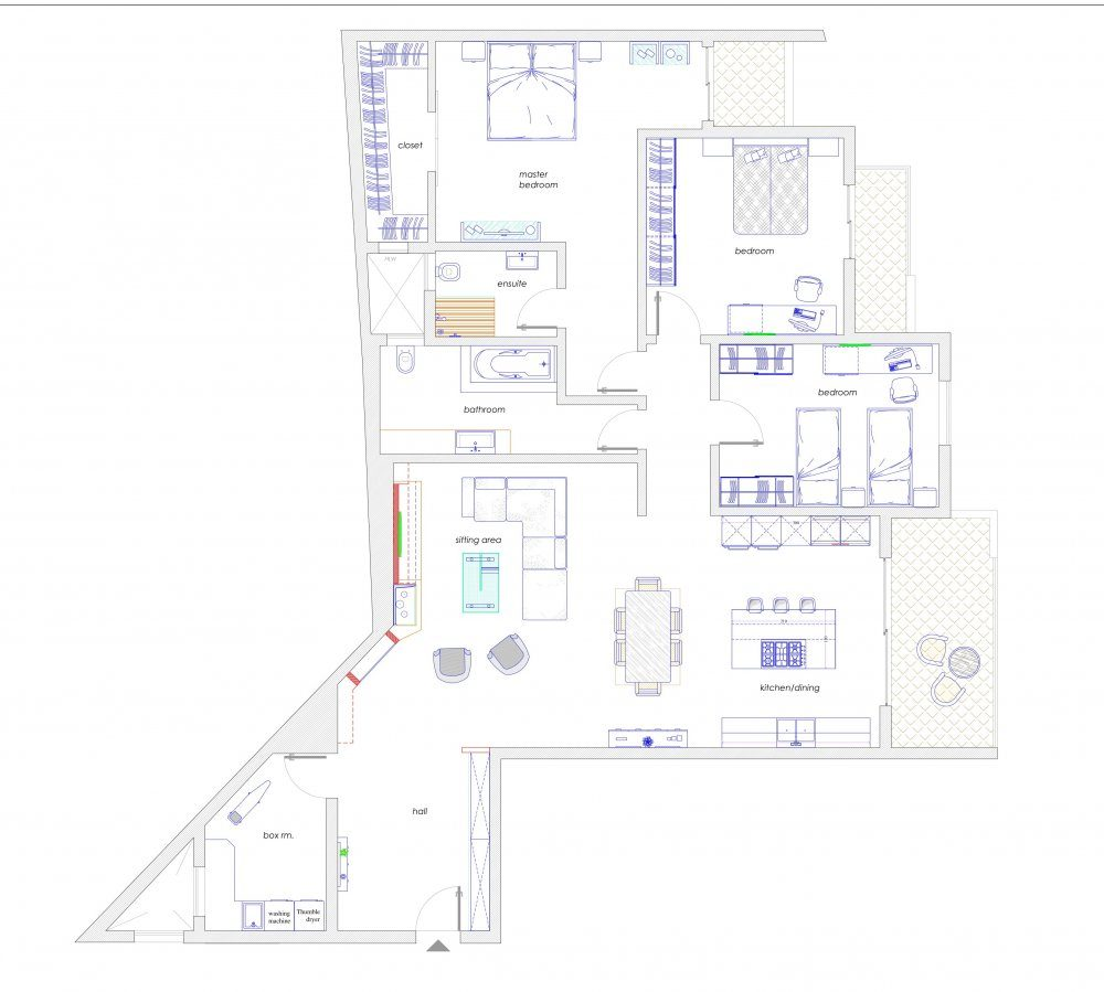 Layout Apartment 8 First Floor
