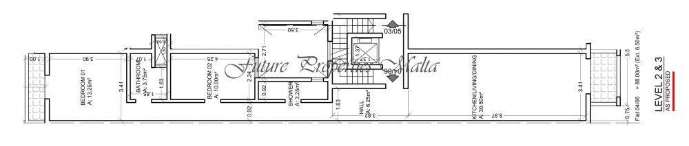 Preston Court Attard Floor Plan Level 2 - Apartment No. 4