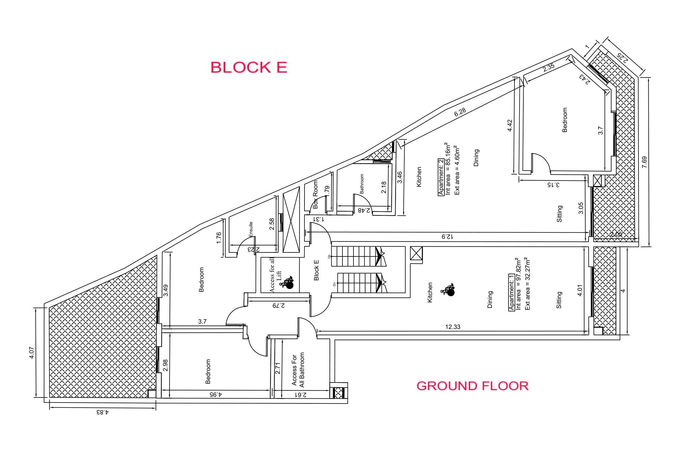 Block E - Ground Floor