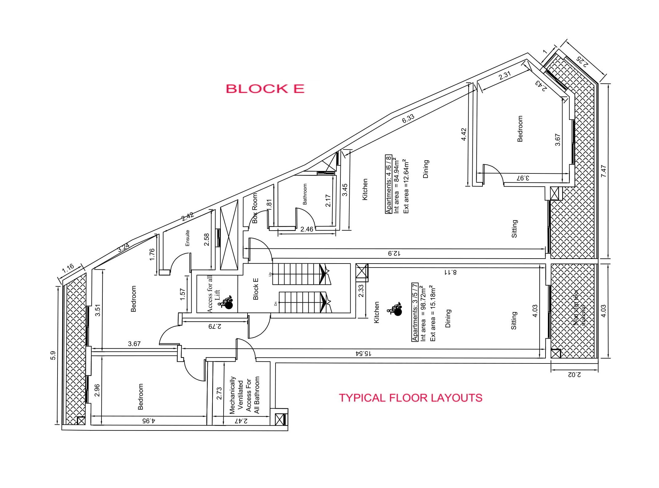 Block E - Typical Layout