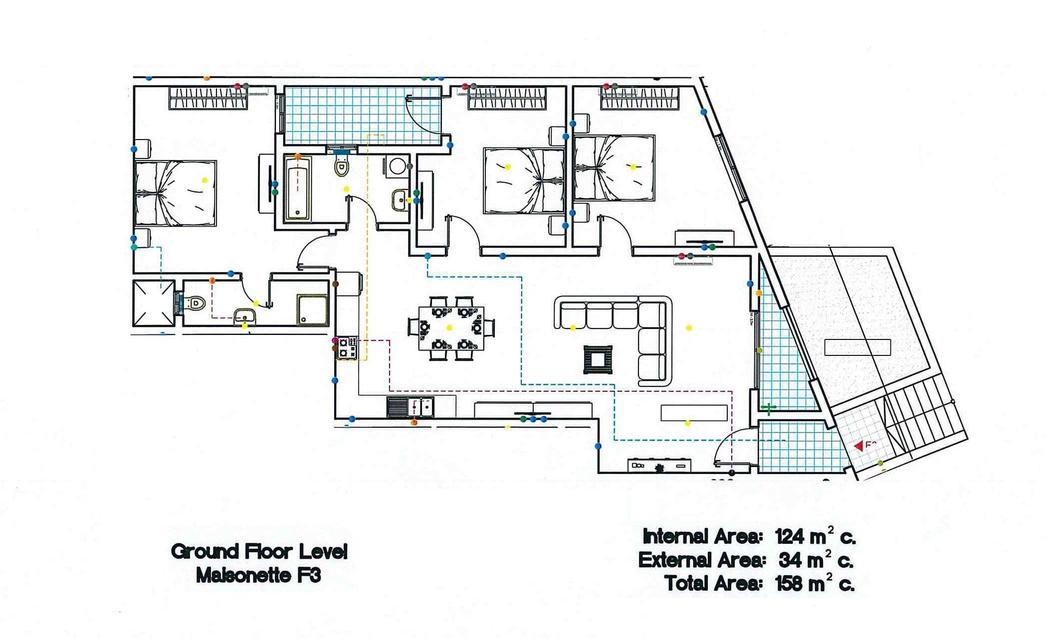 Block F - Ground Floor Maiosnette F3