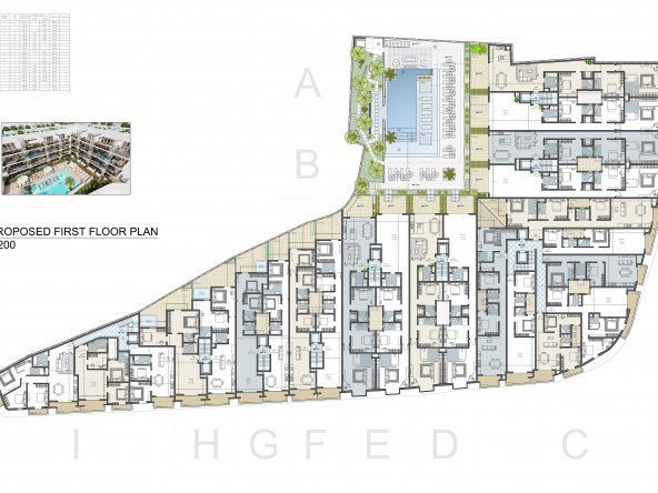 Proposed First Floor Level A2-1