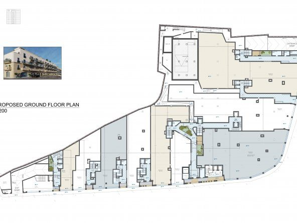 Proposed Ground Floor Level A2-1