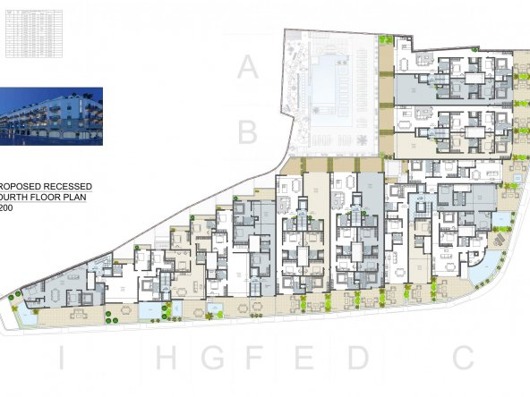 Proposed Receded Fourth Floor Level A2-1