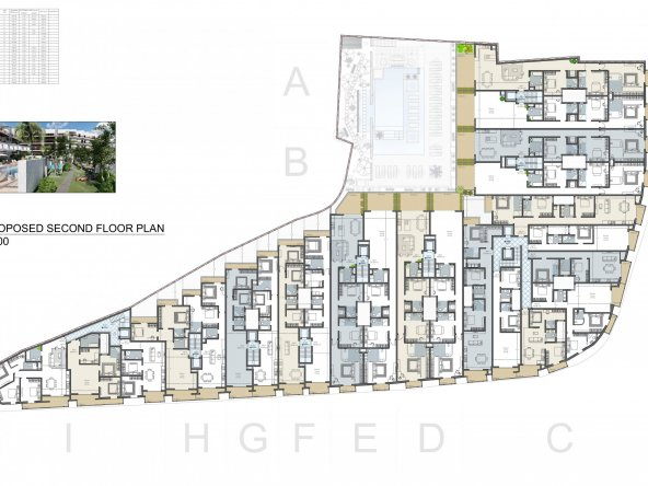 Proposed Second Floor Level A2-1
