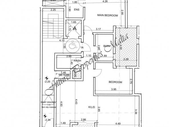 Level - 1 apartment 1A