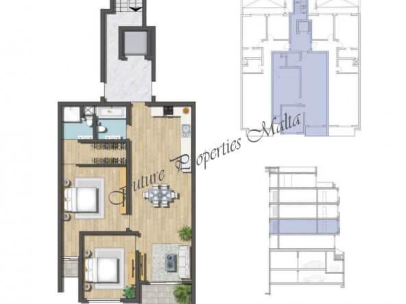 Apartment A2 1st floor
