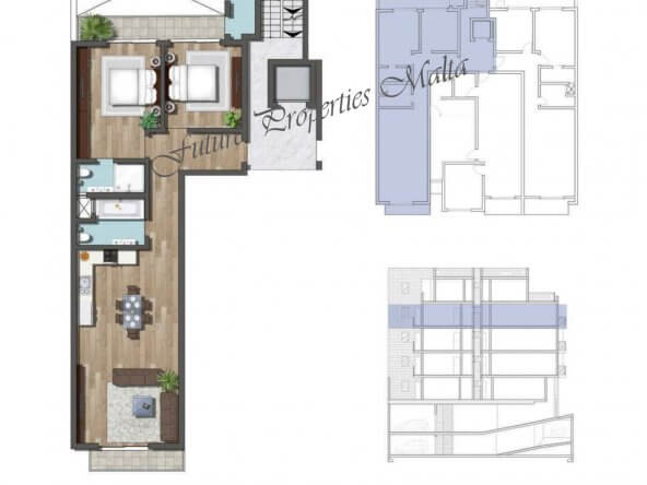Apartment A9 3rd floor